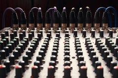 Boutons d'un abat-voix de studio Images libres de droits
