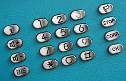 Boutons de cadran de clavier numérique de téléphone public Images stock