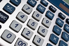 Boutons de calculatrice Photographie stock