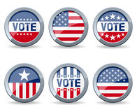 Boutons de campagne d'élection des USA Photo stock