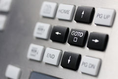 Boutons de clés de curseur Photos libres de droits
