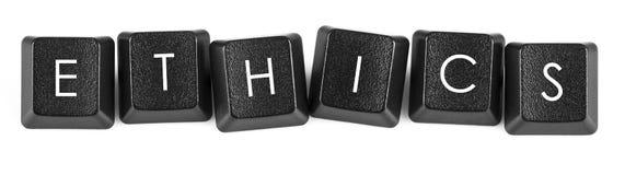 Boutons de clavier d'éthique Photo libre de droits