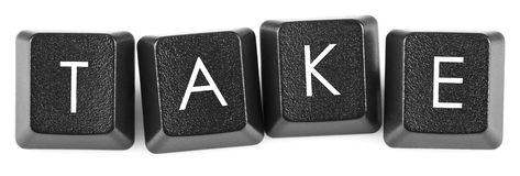 Boutons de clavier de prise Photos libres de droits