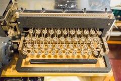 Boutons de clavier de vintage Photo libre de droits