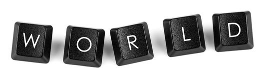 Boutons de clavier du monde Photo libre de droits