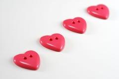 Boutons de coeur Images libres de droits