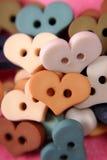 Boutons de coeur Images stock