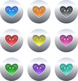Boutons de coeur illustration libre de droits