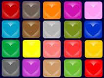 Boutons de coeur Photos libres de droits