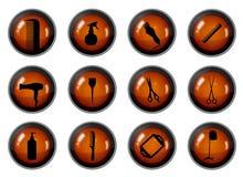 Boutons de coiffure Image stock