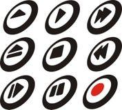 Boutons de contrôle de joueur Photos stock