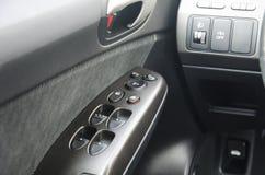 Boutons de contrôle de fenêtre de voiture Photo stock