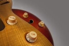 Boutons de contrôle de guitare Images libres de droits