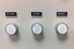 Boutons de contrôle de puissance de machine Images stock
