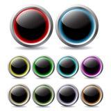 Boutons de couleur illustration stock