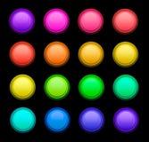 Boutons de couleur de jeu de vecteur Images stock
