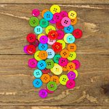 Boutons de couture colorés Photos libres de droits