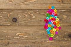 Boutons de couture colorés Images stock