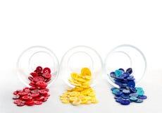 Boutons de couture débordant des chocs Images stock