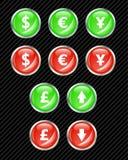 Boutons de devises. Photos stock