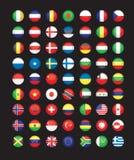 Boutons de drapeau Photo libre de droits