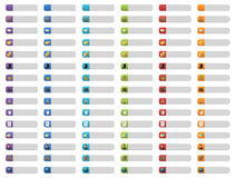Boutons de drapeau avec des graphismes de Web Photos libres de droits