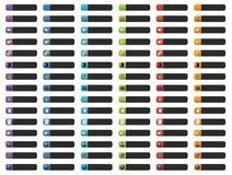Boutons de drapeau avec des graphismes de Web Photo libre de droits