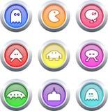 Boutons de jeu Image stock