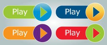 Boutons de jeu Photos libres de droits
