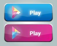 Boutons de jeu Image libre de droits