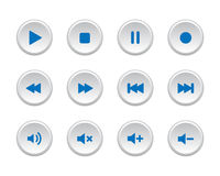 Boutons de media player Photos stock