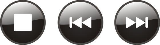 Boutons de musique Images libres de droits