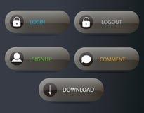 Boutons de navigation de Web Images libres de droits