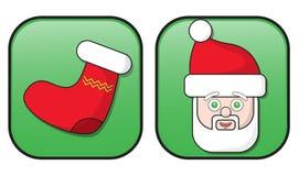 Boutons de Noël Photos libres de droits