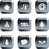 Boutons de Noël Image stock