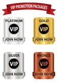 Boutons de paquet de promotion de VIP Photos stock