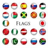 Boutons de pays Photo libre de droits
