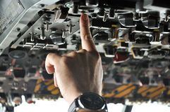 Boutons de poussée pilotes Photos libres de droits