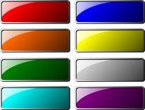 Boutons de rectangle Image libre de droits