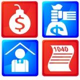 Boutons de service d'impôts illustration stock