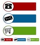 Boutons de site Web Images libres de droits