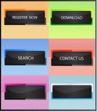 Boutons de site Web Photo stock