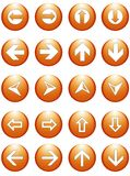 Boutons de symboles de flèche d'affaires Photographie stock libre de droits