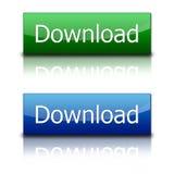 Boutons de téléchargement Image stock