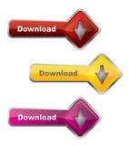 Boutons de téléchargement Images stock