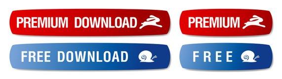 Boutons de téléchargement. Images libres de droits