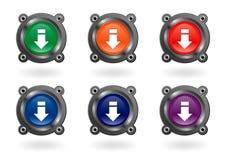 Boutons de téléchargement photos stock