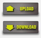 Boutons de téléchargement de vecteur Photo libre de droits