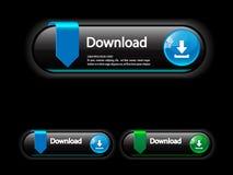 Boutons de téléchargement pour des aplications de Web Photographie stock libre de droits