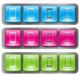 Boutons 2 de téléphone portable Photographie stock